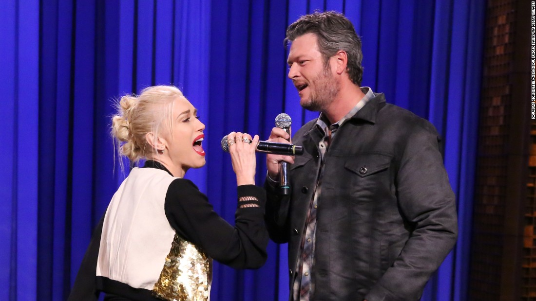 "He's a little bit country; she's a little bit rock: ""The Voice"" judges Gwen Stefani and Blake Shelton are dating, his rep<a href=""http://www.eonline.com/news/713073/blake-shelton-and-gwen-stefani-are-dating"" target=""_blank""> confirmed to E! in 2015.</a> Both were previously married to other musicians: She to Gavin Rossdale of Bush, he to country star Miranda Lambert."