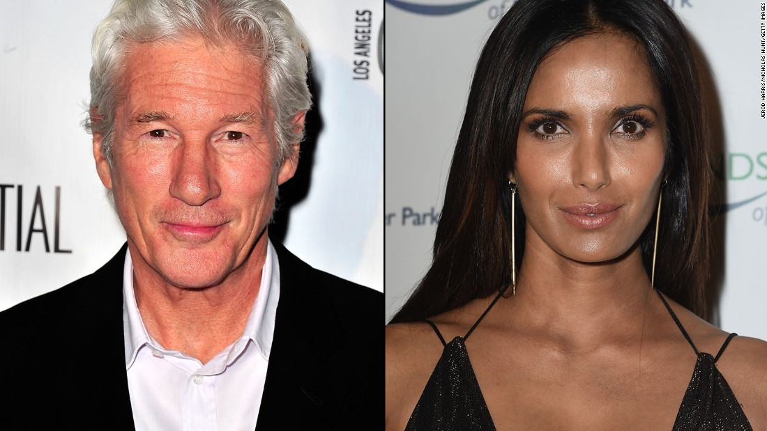 "Actor Richard Gere and ""Top Chef"" host Padma Lakshmi were an item in 2014 <a href=""http://www.usmagazine.com/celebrity-news/news/padma-lakshmi-richard-gere-split-after-six-months-of-dating-20141410"" target=""_blank"">before splitting after six months. </a>"