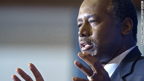"Republican presidential candidate Ben Carson delivers discusses his new book, titled, ""A More Perfect Union: What We the People Can Do To Reclaim Our Constitutional Liberties"" on October 9, 2015 at the National Press Club in Washington, DC."