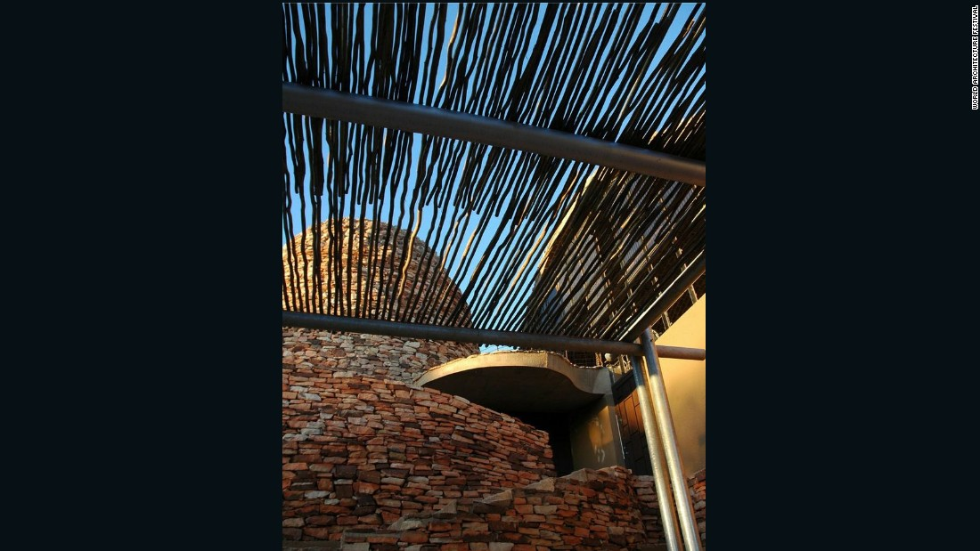 "The structure also took design inspiration from its surrounding ""complex landscape"" -- an effort which the judges also noted to be particularly well executed. Mapungubwe Interpretation Centre was selected from a total of 15 finalists. Upon winning the award, architect Peter Rich said, ""I will continue my quest to be of service to the less privileged, because they deserve it."""