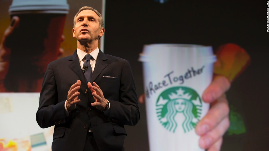 "In March, Starbucks received mix responses to its ""Race Together"" campaign. The company ran full-page ads in The New York Times and USA Today announcing the initiative. Starbucks held open forums for workers to talk about race, and baristas in cities where forums were held began writing the slogan on customers' cups, aiming to spark a dialogue."