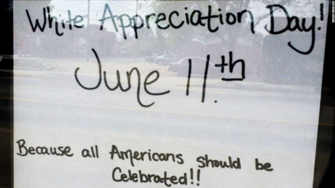 "Edgar Antillon, co-owner of Rubbin' Buttz BBQ and Country Cafe in Milliken, Colorado,  drew criticism for offering a ""<a href=""http://www.cnn.com/2015/05/09/living/colorado-bbq-restaurant-white-appreciation-day-feat/"" target=""_blank"">White Appreciation Day</a>"" discount on June 11. What started as a joke about how there's no holiday that celebrates ""the white community"" was been misinterpreted as a racially charged promotion, Antillon said."