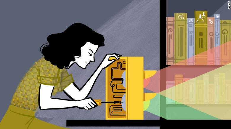 Google made a commitment in 2014 to feature more women and people of color in the beloved doodles on its homepage. Monday's animated doodle celebrates the dual life of the late actress Hedy Lamarr, who also became an acclaimed inventor.