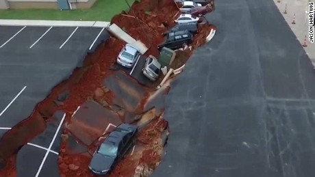 Sinkhole Mississippi drone footage newday_00001717