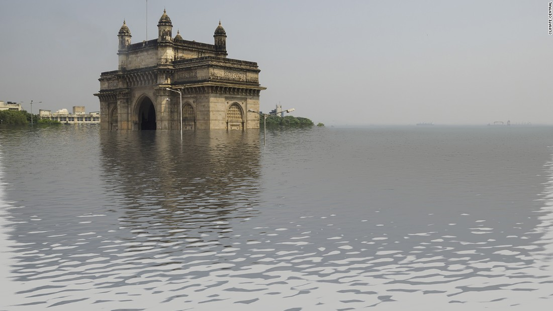 Much more would be submerged in Mumbai, if temperatures rose by four degrees.