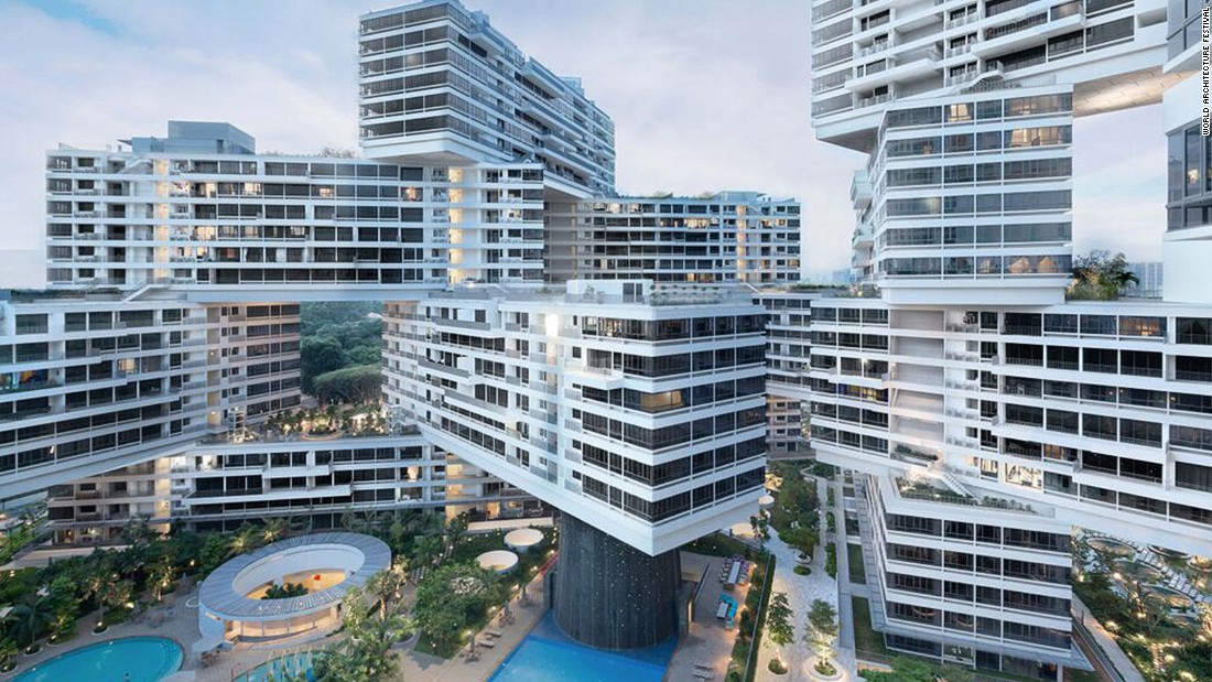 "The Interlace has been crowned the World Building of the Year 2015. Designed by OMA and Buro Ole Scheeren, is described as ""one of the most ambitious residential developments"" in the tropical island-state's history."