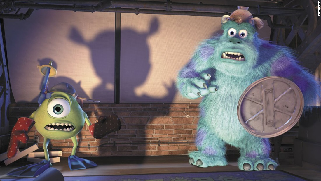 Pixar's gift for imaginative storytelling was on full display in this tale about monsters who live in a city powered by the screams of children. Worldwide box office: $529 million.