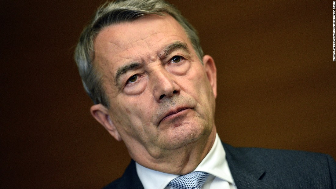 "Wolfgang Niersbach announces his resignation as German Football Federation president, taking ""political responsibility"" for accusations of bribery involving the country's bid to stage the 2006 World Cup."