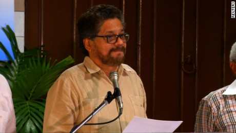 FARC representative talks in La Habana, Cuba on November 9, 2015.