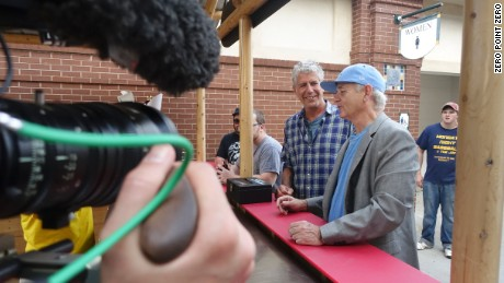 Tony and Bill Murray grab some beers at a Charleston RiverDogs baseball game.