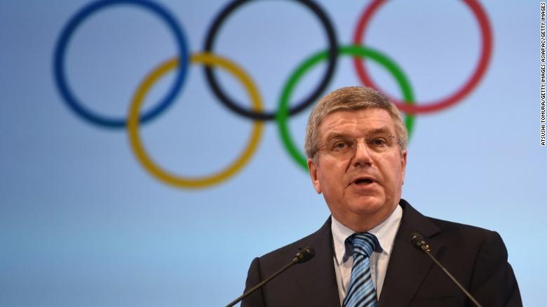 President of International Olympics Committee Thomas Bach