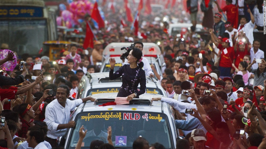 Aung San Suu Kyi's opposition National League for Democracy (NLD) won a historic majority in Myanmar's parliament on November 8, 2015, marking the nation's rejection of decades of military rule. The elections were the first freely held in the nation in 25 years. Despite her party's win, the Nobel laureate cannot become president under the military-drafted constitution.