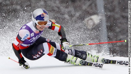 MERIBEL, FRANCE - MARCH 22: (FRANCE OUT) Lindsey Vonn of the USA during the Audi FIS Alpine Ski World Cup Finals Women's Giant Slalom on March 22, 2015 in Meribel, France. (Photo by Alexis Boichard/Agence Zoom/Getty Images)