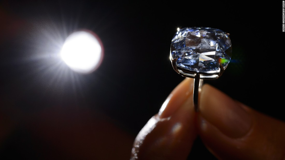 This 12.03-carat blue diamond fetched $48.4 million at auction on November 11, 2015, making it the world's most expensive diamond.