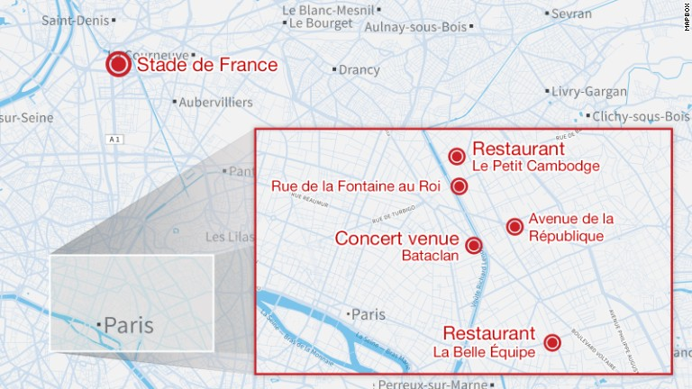 Paris massacre: At least 128 killed in gunfire and blasts, French officials say