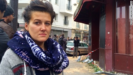 'Alexandra Demian who survived the Paris terror attack on le Carillon on Nov 13 2015. Photo by Pete Wilkinson/CNN in Paris' from the web at 'http://i2.cdn.turner.com/cnnnext/dam/assets/151114143744-paris-attack-alexandra-demian-large-169.jpg'