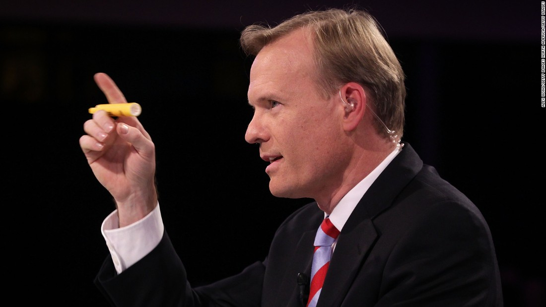 "CBS ""Face the Nation"" anchor John Dickerson moderates the debate."