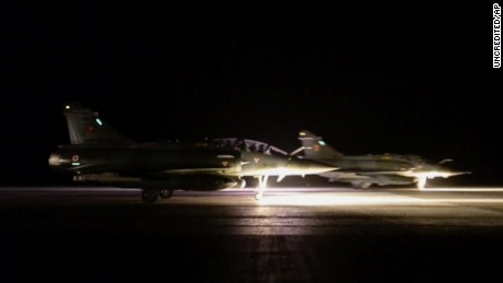 French jets bomb ISIS in Syria in wake of Paris attack