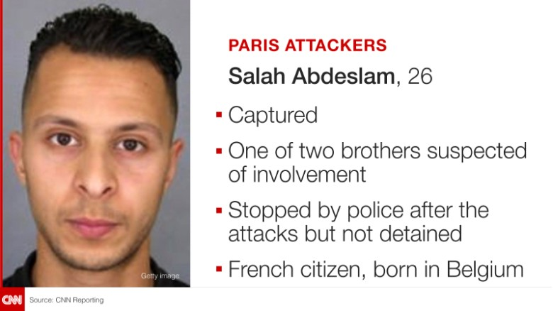 Paris Attack Suspects Finally Identified, And Here's The List - Salah Abdeslam