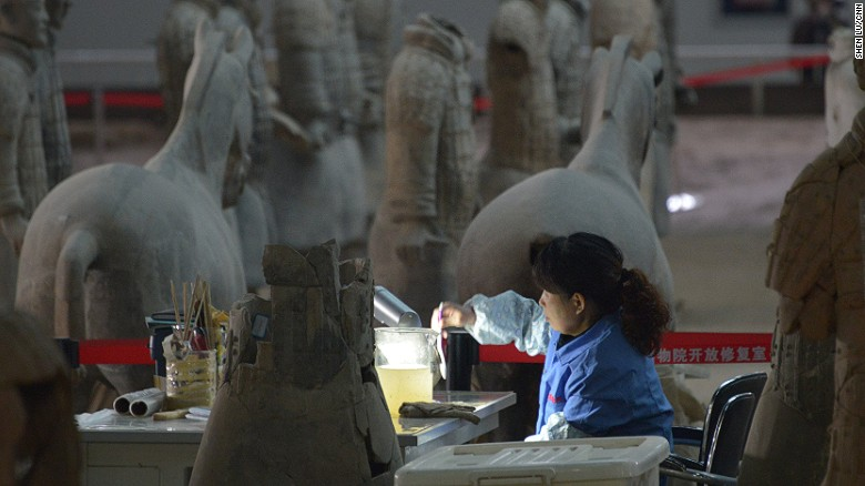Excavation and restoration of terra-cotta figures is ongoing. In coming years, hundreds of warriors are expected to be restored from pottery pieces dug from the museum's three main pits.