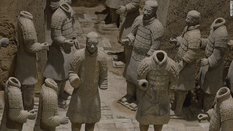 Pit 3 is the smallest among the three Terracotta Army pits, but it houses the highest-ranked commanders of the army, as well as war chariots.