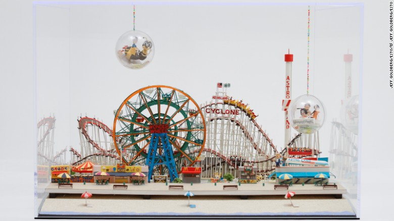 Matsui is currently based in New York, and has recreated several American landmarks, like the amusement park, Coney Island.