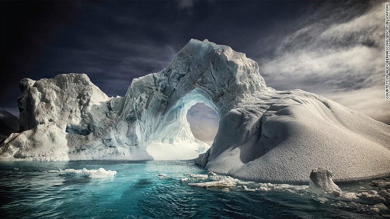 Frozen beauty: An iceberg arch near volcanic Paulet Island.