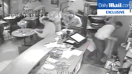 Terrifying video of terrorist misfiring at customer