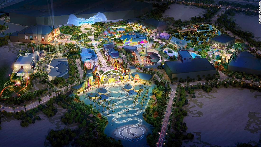 "Motiongate, pictured, is one of three themed zones that will make up the massive Dubai Parks & Resorts. Highlights include the world's first ""The Hunger Games"" attraction."
