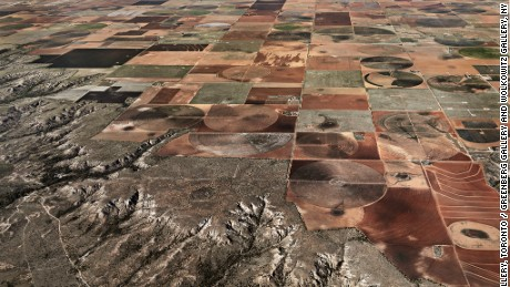 Pivot Irrigation #11, Higher Plains, Texas Panhandle, USA, 2011, by simply Edward Burtynsky