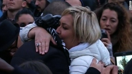 title: Muslim man offers hugs to mourners at Paris attacks vigil  duration: 00:01:20  site: Reuters  author: null  published: Wed Dec 31 1969 19:00:00 GMT-0500 (Eastern Standard Time)  intervention: no  description: null