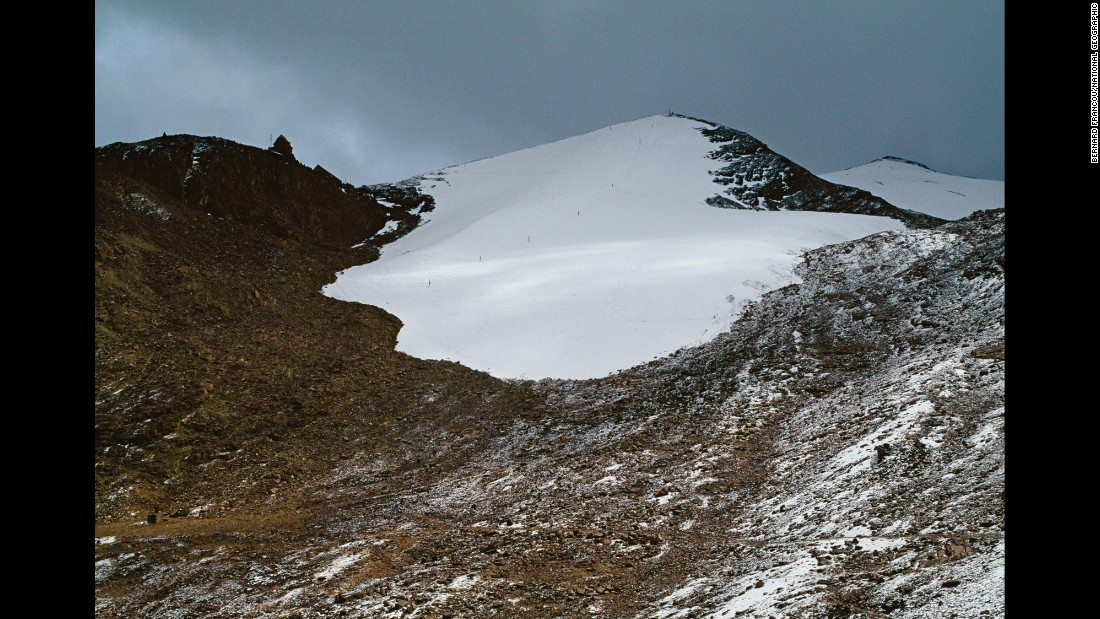 """Years ago, says a veteran skier, """"conditions were fantastic"""" at the world's highest ski area, on 17,250-foot (5,260 meters) Chacaltaya Glacier near La Paz, Bolivia."""
