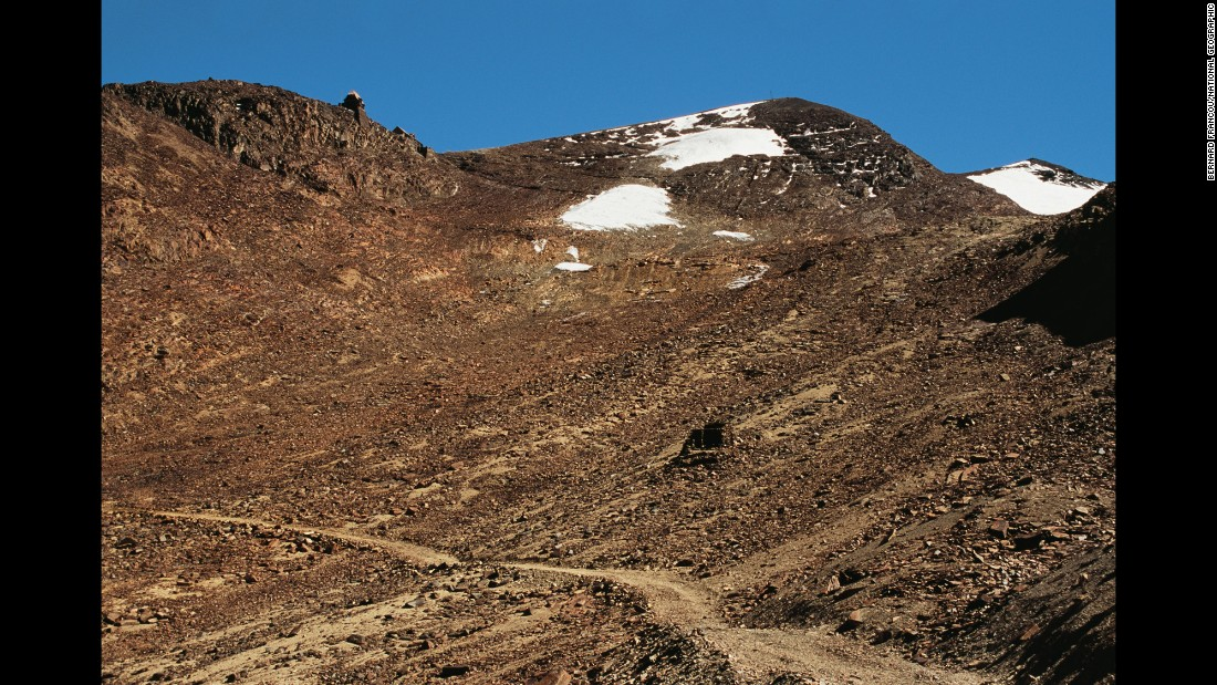 Today, few attempt the ski run down Bolivia's Chacaltaya Glacier, even after a snowfall. The glacier has shriveled in the past decade, turning much of the slope into a boulder field.