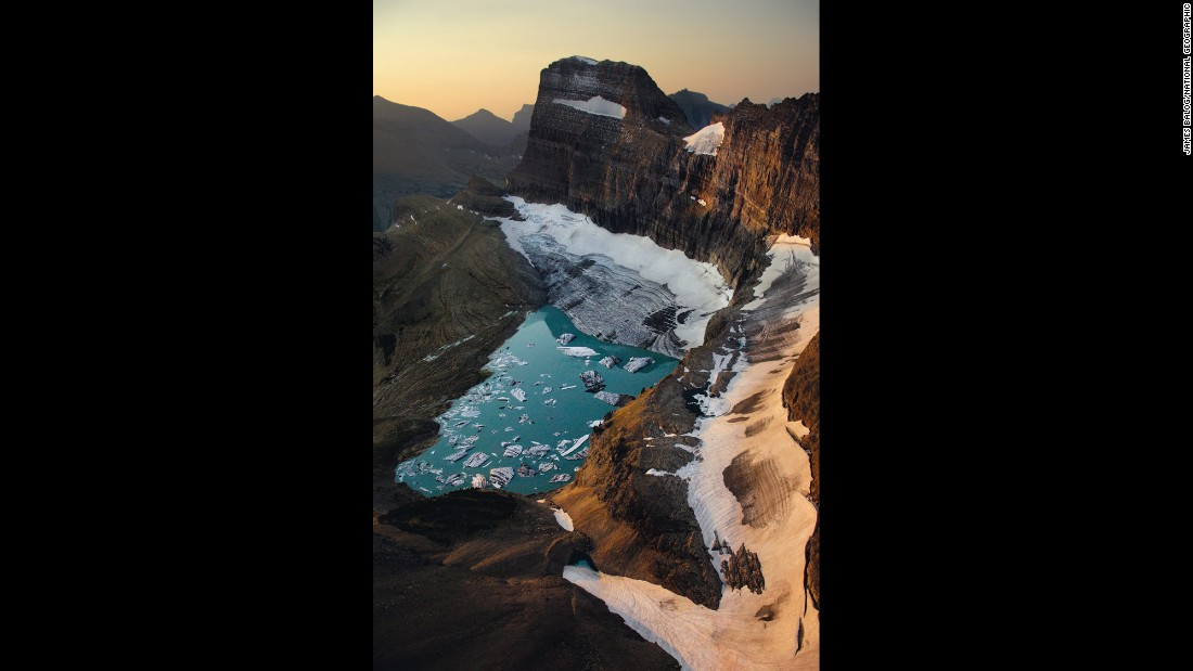 Montana's Grinnell Glacier, a robust body of ice decades ago, is melting.