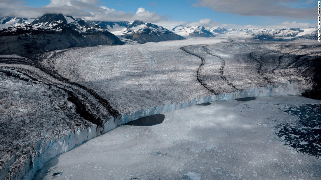 Columbia Glacier in Alaska has retreated 11 miles since 1980. Since then, it has diminished vertically an amount equal to the height of New York's Empire State Building.