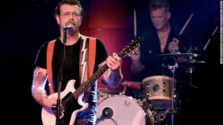 Jesse Hughes, left, and Josh Homme of the Eagles of Death Metal perform in Los Angeles in October.