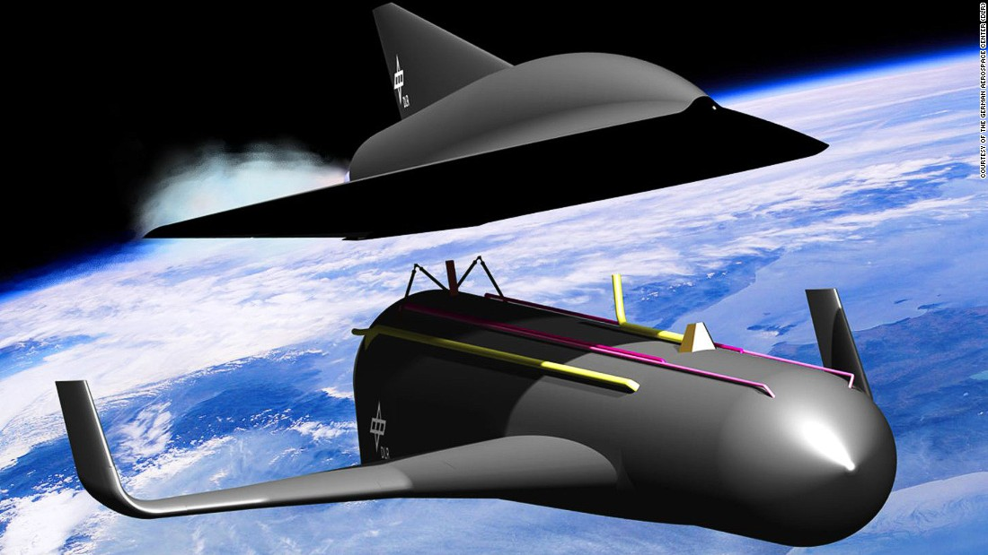 The German Aerospace Center's  ambitious SpaceLiner concept would work by reaching speeds of up to Mach 25, enough to travel from London to Australia in under 90 minutes.<br />
