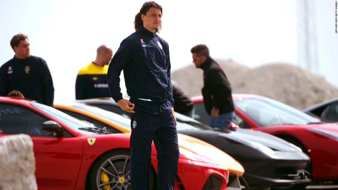 The Swede spent one season at Spanish club Barcelona -- scoring 21 goals in 41 games for the Catalans. But he struggled to get along with the club's revered coach Pep Guardiola. In his book, Ibrahimovic described how players were supposedly banned from driving super cars to training.
