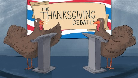 thanksgiving debate turkeys illustration mullery
