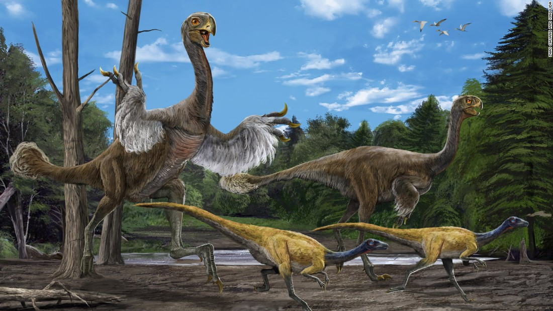 "In 2005, Xu Xing and a group Chinese paleontologists <a href=""http://www.nature.com/news/2007/070611/full/news070611-9.html"" target=""_blank"">excavated the bones of this giant bird-like dinosaur</a>. It's believed to be 8 meters long and weigh 1.4 tons. Its arms were long and legs were bird-like."