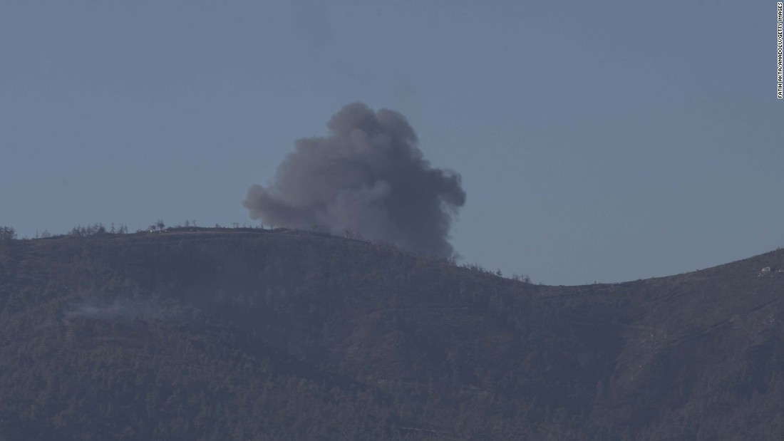 Heavy smoke has been seen in the area where the plane fell. <br />
