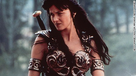 "1999 Lucy Lawless Stars In ""Xena: Warrior Princess.""  (Photo By Getty Images)"