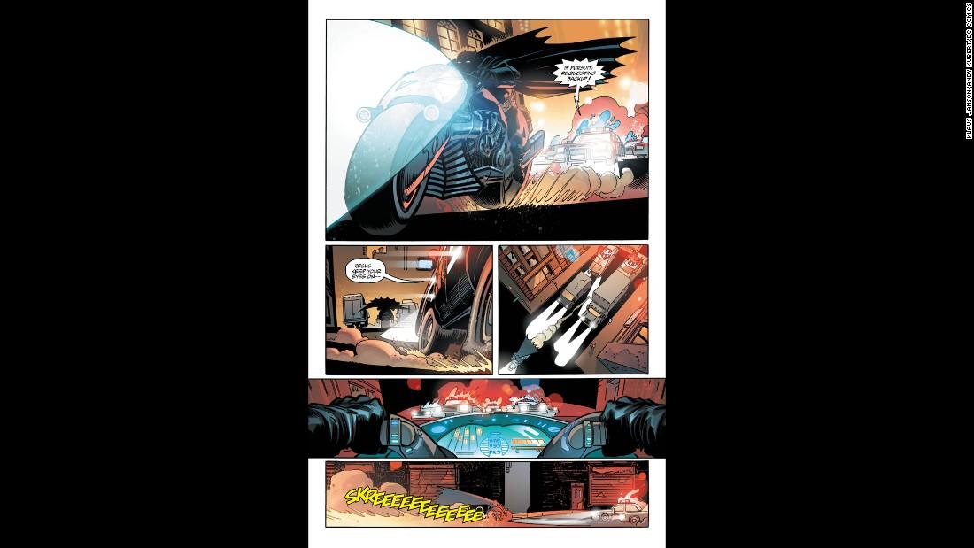 'Miller's original story dealt with an aging Batman brought out of retirement.' from the web at 'http://i2.cdn.turner.com/cnnnext/dam/assets/151124142145-03-dark-knight-iii-art-super-169.jpg'