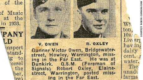 Missing in action: a newspaper clipping studies Oxley's capture.