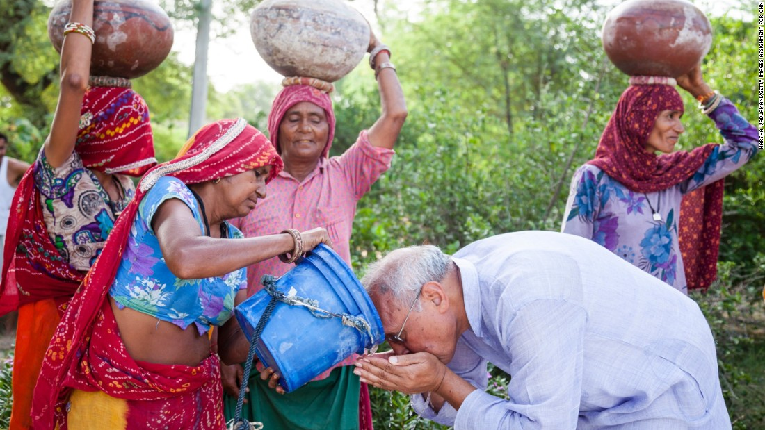 "For the last 12 years, CNN Hero Bhagwati Agrawal has been fighting the water crisis in his homeland of India. He and his nonprofit created a rainwater harvesting system called Aakash Ganga -- Hindi for ""River from the Sky."""