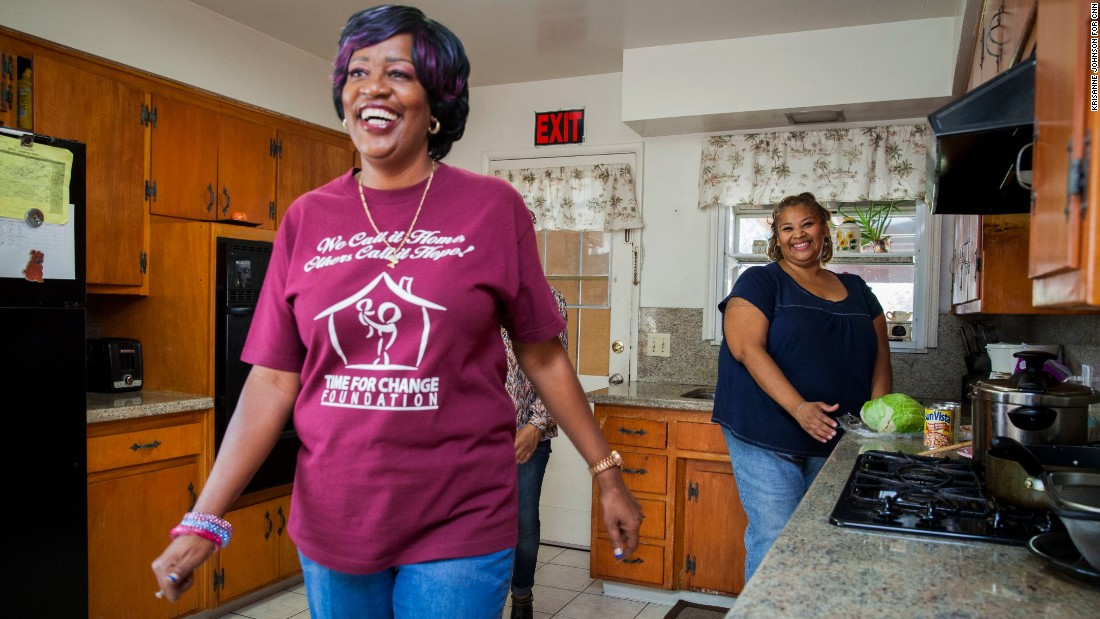 As part of Carter's program, women create individual plans for self-sufficiency, and the group provides services and support to help them reach their goals