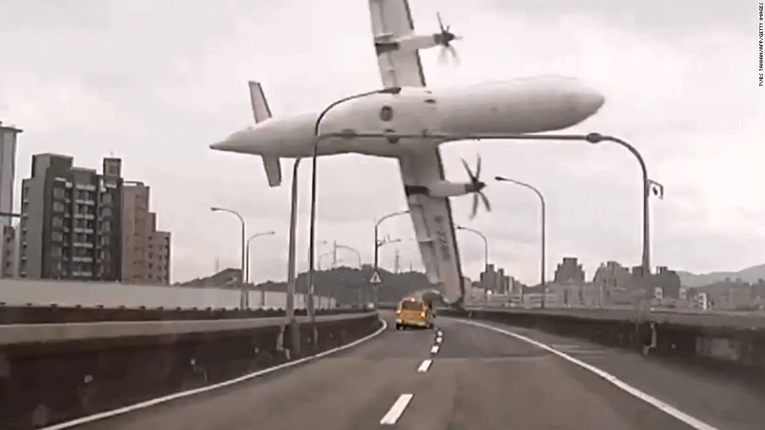 "<strong>February 4:</strong> In this still image taken from video, <a href=""http://www.cnn.com/2015/02/04/asia/gallery/taiwan-transasia-plane-crash/index.html"" target=""_blank"">TransAsia Airways Flight GE235</a> clips a bridge in Taipei, Taiwan, shortly after takeoff. The twin-engine turboprop airplane then plunged into the Keelung River. There were only 15 survivors among the 58 people on board. Pilots <a href=""http://www.cnn.com/2015/02/07/asia/taiwan-transasia-plane-crash/"" target=""_blank"">had grappled with engine problems</a> before the crash, Taiwan's aviation safety agency said."