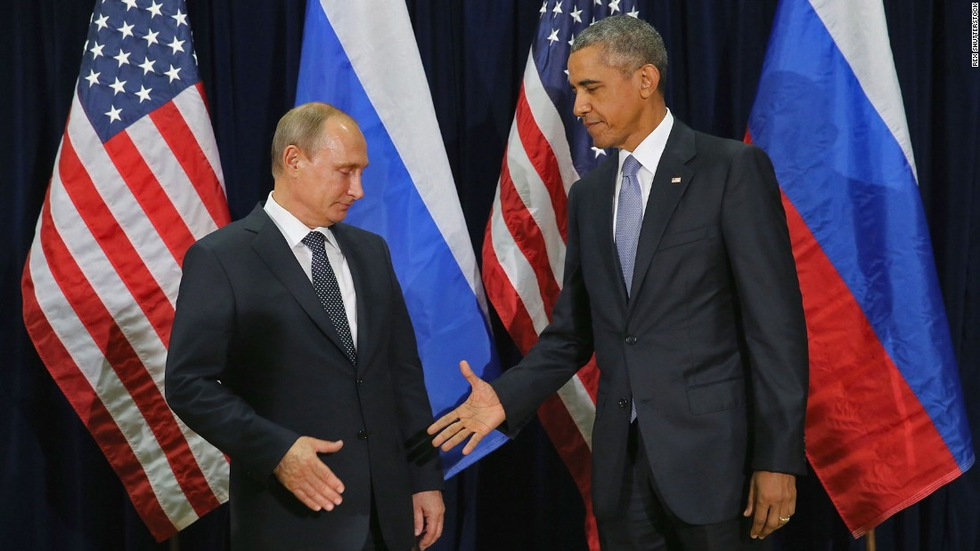 "<strong>September 28:</strong> U.S. President Barack Obama reaches out to shake the hand of Russian President Vladimir Putin at a U.N. summit in New York. The two, bitterly at odds over Ukraine and Syria, <a href=""http://www.cnn.com/2015/09/28/politics/obama-putin-meeting-syria-ukraine/"" target=""_blank"">also had a closed-door meeting</a> that day."