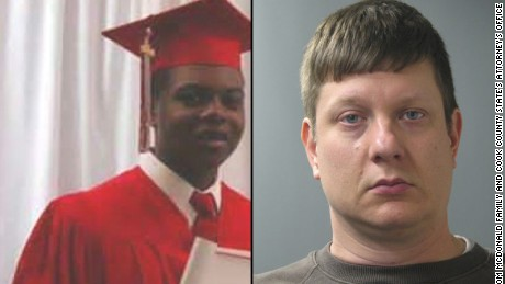 Officer Jason Van Dyke, right, has been charged in Laquan McDonald's death.