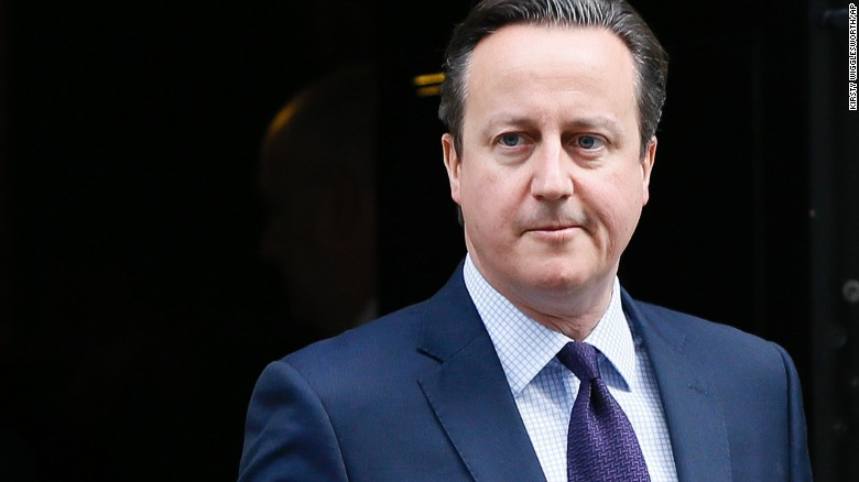 Britain's PM David Cameron leaves Downing Street on November 26, 2015.